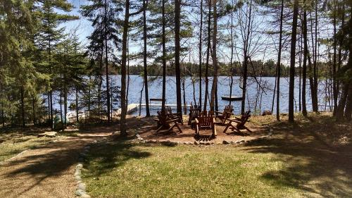 campfire lake view
