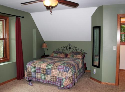 Upstairs driveway side bedroom