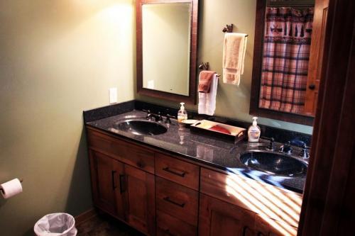 upstair full bath, double sink