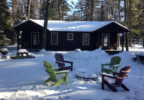 winter view of cabin 8 and 9