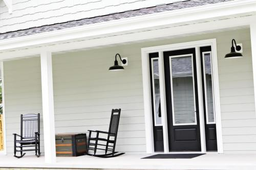 road side entrance/ covered porch