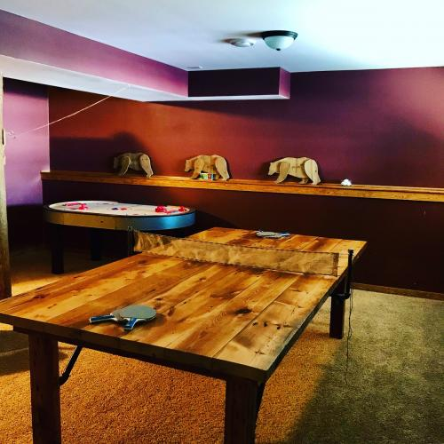 ping pong table rec room area