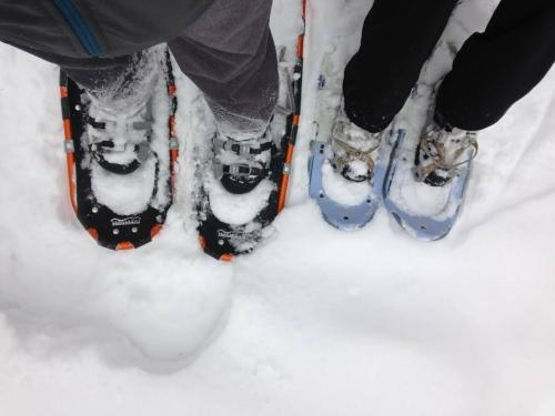 snowshoe local trails or hit the frozen lake